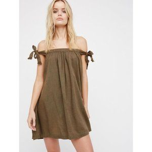 Free People Just Right Off The Shoulder Mini Dress